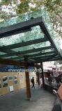 Fertigung-Busbahnhof-Schutz, im Freienschutz für Leute, Schutz-Bekanntmachen
