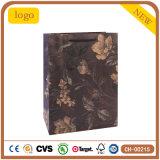 Mode Pattern cadeau de fleur noir Sac de papier kraft