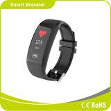 Faixa de relógio de pulso de silicone com ecrã panorâmico e monitor de batimento cardíaco