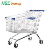 Beste verkaufensupermarkt-Einkaufen-Laufkatze drücken Karre von Hand ein