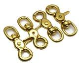 固体真鍮のイセエビは楕円形の旋回装置のトリガーのクリップ・フックを握りしめる