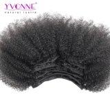 Yvonne complet de la tête de l'homme péruvienne Hair Clip dans l'extension de cheveux afro Kinky curl