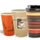 8 унции 12oz 16oz Логотип одноразовых бумаги кофейные чашки с крышками