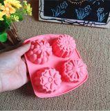 De 4 cavités de forme moulage différent de silicones de moule à gâteaux de silicones de bâton non
