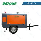 De diesel Beweegbare Compressor van de Lucht voor de Apparatuur van de Aanleg van Wegen & van de Vernieling
