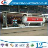 Clw Factory Direct Sales 10, 000L Plateau de remplissage de cylindre LPG, 10cbm LPG Skid Station pour le Nigeria