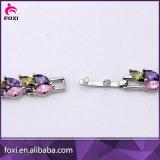 Хорошее качество AAA CZ камня очарование браслет с золотым покрытием