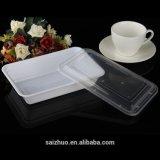 Contenitori di alimento di plastica rettangolari di microonda con il coperchio/animale domestico