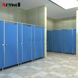 Amywell10 anos de garantia edifício público Design HPL compacto para a escola a Partição de toucador