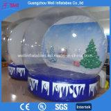 Globo di nevicata gonfiabile di pubblicità gigante del globo della neve per natale