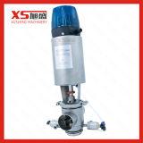Aço inoxidável SS316L 24V sanitárias do Assento da Válvula Mix-Proof duplo
