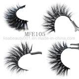 mehrschichtige starke lange Haar-handgemachte weiche Wimper-falsche Wimper des Nerz-3D