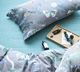 贅沢の100%年の綿の寝具セット(宝石、灰色)