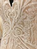 2018 de alta calidad de la moda escote en V vestido de novia