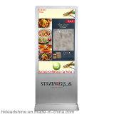 Android 55 дюймов свободно стоящий рекламируя киоск Signage цифров