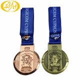 Plaqué Argent antique Médaille de Métal 3D