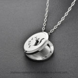 Ijd8204 Gorgeous Swan 316L en acier inoxydable Collier pendentif en crème Pet Ashes Keepsake Holder Memorial Charm