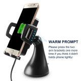 Suporte telefônico rápido carregamento de Qi stand de automóveis Carregador Sem Fio para iPhone x 8