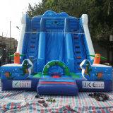 Diapositiva de agua inflable gigante al aire libre del grado comercial de la venta directa de la fábrica