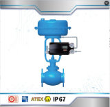 Válvula de control neumática del diafragma con el posicionador de Fct