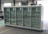 refrigerador remoto vertical de 3.75m Multideck, refrigerador de vidro comercial da porta