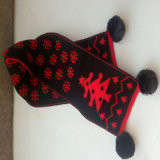 Акрил Beanie/Beanie Red Hat с верхней шаровой/дамы трикотажные головные уборы