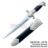 Украшение 34cm HK2012 дома кинжала рыцаря кинжала орла головное историческое