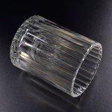 普及したサイズの縦線パターン蝋燭の瓶
