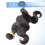 100%の加工されていないバージンの人間のインドの毛の成長の織り方