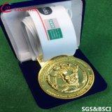 ビロードボックスが付いているカスタム賞3Dの金メダル