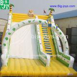 膨脹可能な動物が付いている膨脹可能なジャングルのスライドは販売のためのスライドを乾燥する