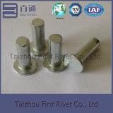 rebite de aço contínuo principal liso da cor do zinco do branco de 8X30mm