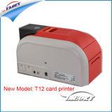 Impressora de cartões Dual-Sided/código de barras impressora de cartões/Cartão de Tarja Magnética/Cartão de plástico impressora/ máquina de impressão com prateado