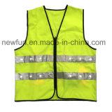 Maglia infiammante di visibilità della maglia riflettente gialla del LED alta