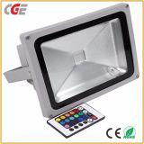 A luz de LED RGB de mudança exterior 10W/20W/30W Projector LED com LED de iluminação de exterior do controlador lâmpada LED de iluminação de inundação
