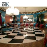 Uso de interior Dance Floor blanco y negro con el marco de aluminio