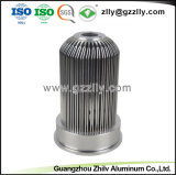 Конкурсные штампованный алюминий для теплоотвода с вентилятором с Anodizing и обработки с ЧПУ