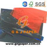 Alta calidad de los colores completos Glassine transparente para el embalaje de papel
