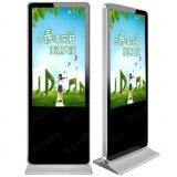 Soporte de interior LCD del suelo que hace publicidad del quiosco de la señalización de Digitaces de la pantalla de visualización