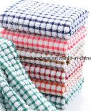 L'usine OEM de produire des vérifications personnalisées rayures jacquard Terry Rose Serviette Serviette de cuisine coton
