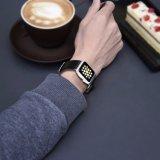 De duurzame Nylon Geweven Echte Band van het Horloge van het Leer voor de Band van het Horloge van de Appel