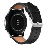 Nueva llegada 22mm negro de la banda de Reloj de cuero auténtico engranaje para Samsung S3