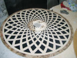 金属の象眼細工(SP01)が付いている自然な石造りのモザイク模様、パターンモザイクボーダー円形浮彫りか石の寄木細工の床