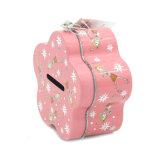 Moneda de forma de flor tin box con bloqueo