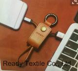 Prachtig Bruin Pu 2 in 1 Keychain voor USB&Key