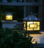 Luz solar decorativa al aire libre del pilar, puerta solar de la luz del poste de la cerca para el jardín