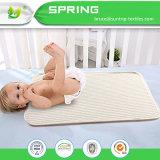 Baby-wasserdichter Matratze-Krippe-/Bett-Auflage-organischer Baumwollincontinence-Blatt-Deckel-Schoner