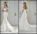 outre de la robe de mariage de plage de sirène de lacet de robes nuptiales d'épaule G17248