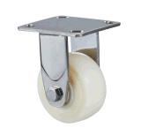 Der Qualitäts-304 Rad-Fußrolle Edelstahl-Hochleistungsdes weiß-Nylon/PP