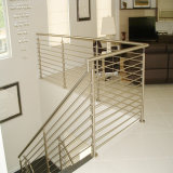 バルコニーのステアケースのためのステンレス鋼304の固体棒の柵デザイン